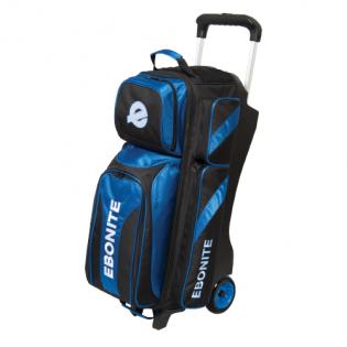 EBONITE EQUINOX TRIPLE ROLLER, BLACK/BLUE